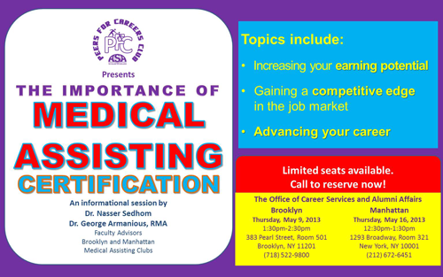 Importance of Medical Assisting Certification Poster