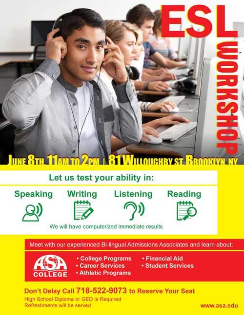 ASA College Open House Flyer