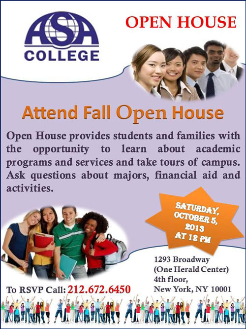 ASA College Open House Flyer