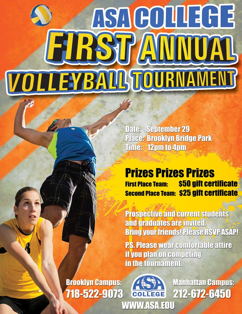 First Annual ASA Volleyball Tournament on 9/29!