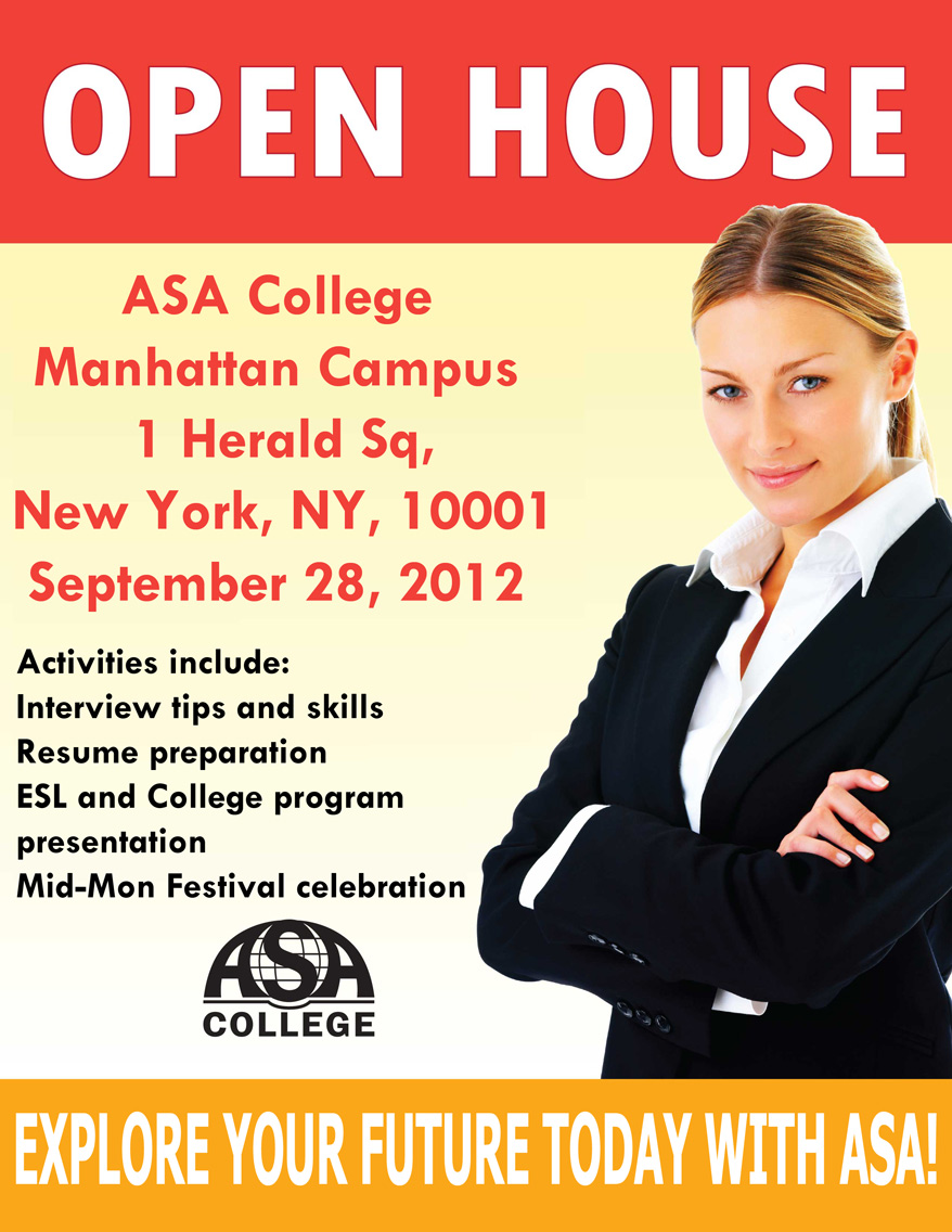 ASA COLLEGE OPEN HOUSE