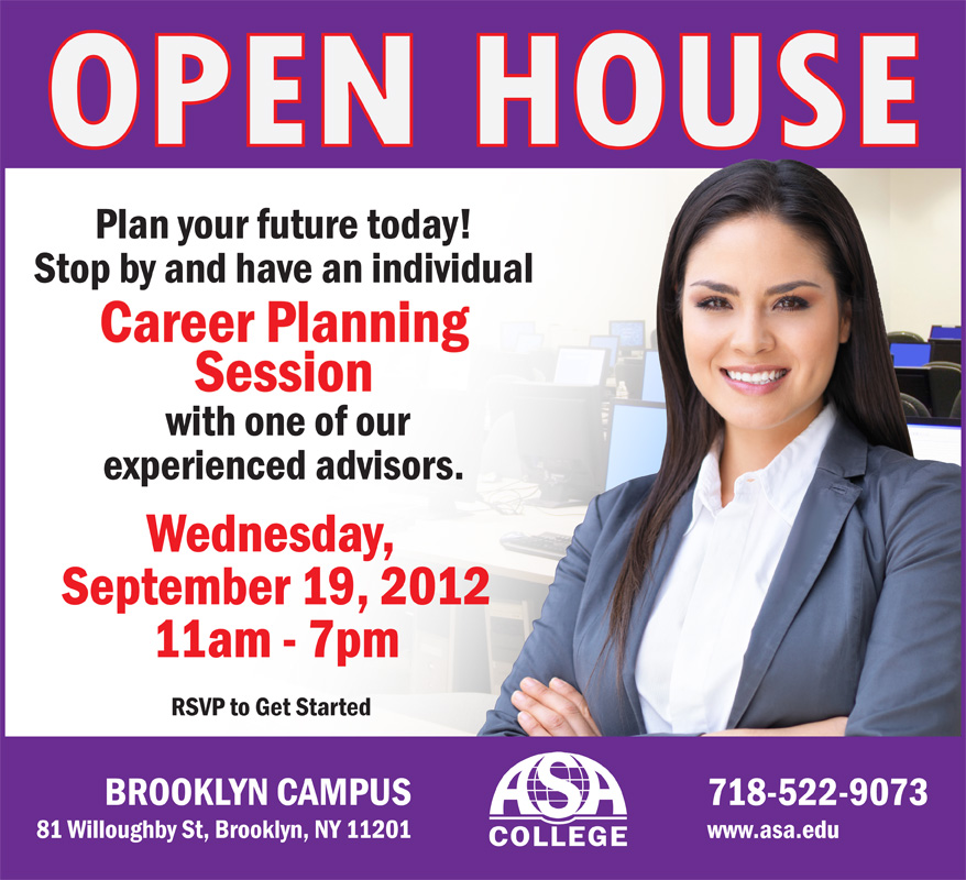 ASA OPEN HOUSE INDIVIDUAL CAREER PLANNING