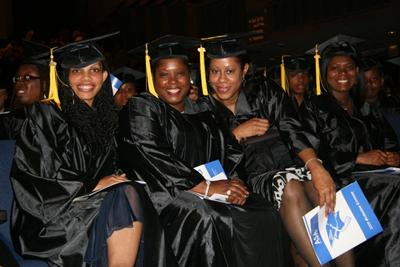 ASA graduates getting ready to receive their diplomas