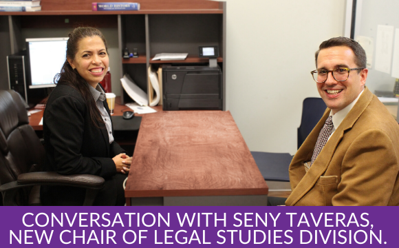 A Better Life and a Better Society: In Conversation with Seny Taveras, New Chair of Legal Studies Division