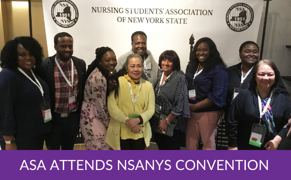 ASA attends the Nursing Students' Association of New York State Convention