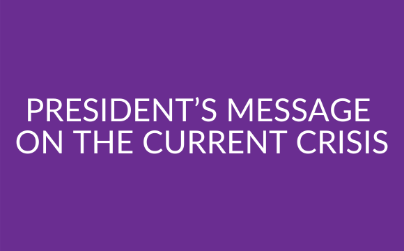 President's message on the current crisis