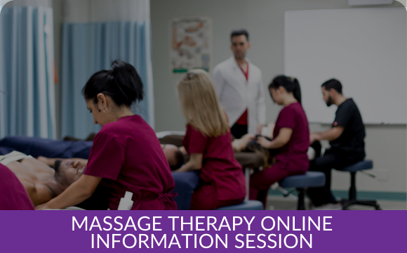 Massage Therapy Online Information Session