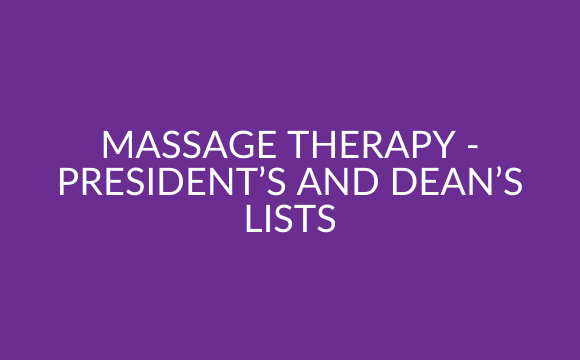 Gallery: Massage Therapy – President's and Dean's Lists