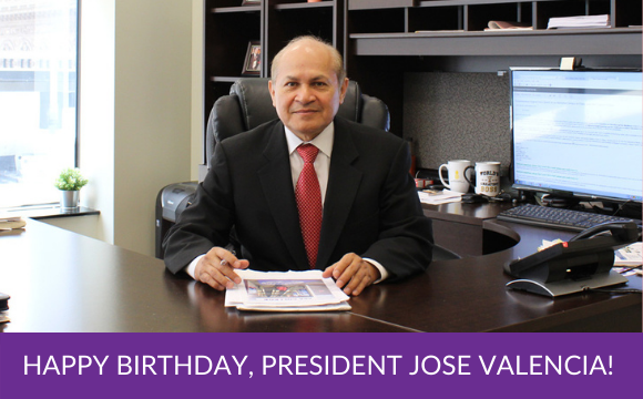 Happy Birthday, President Jose Valencia!