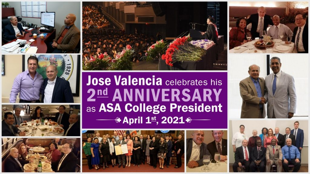 Jose Valencia celebrates his 2nd Anniversary as ASA College President