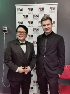 Director of International Film Festival Manhattan Luis Pedron and Denys Kapush